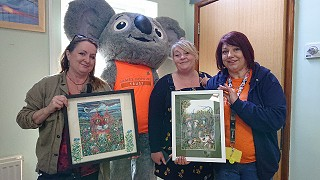 GEM success story Julie donates artwork to local children's charity